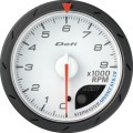 ADVANCE CR tachometer white dial 60mm