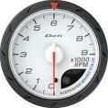 ADVANCE CR tachometer white dial 60mm