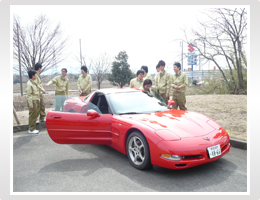 日本精機 新入社員研修 R&Dセンター見学 HUD(ヘッドアップディスプレイ)搭載車
