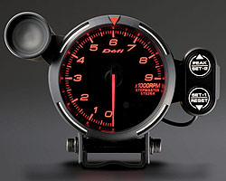 BF Tachometer 9000RPM amber red