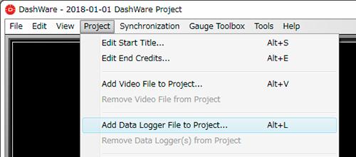DashWareデータ選択