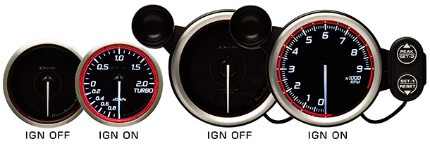 RGN2 ignition ON/OFF red
