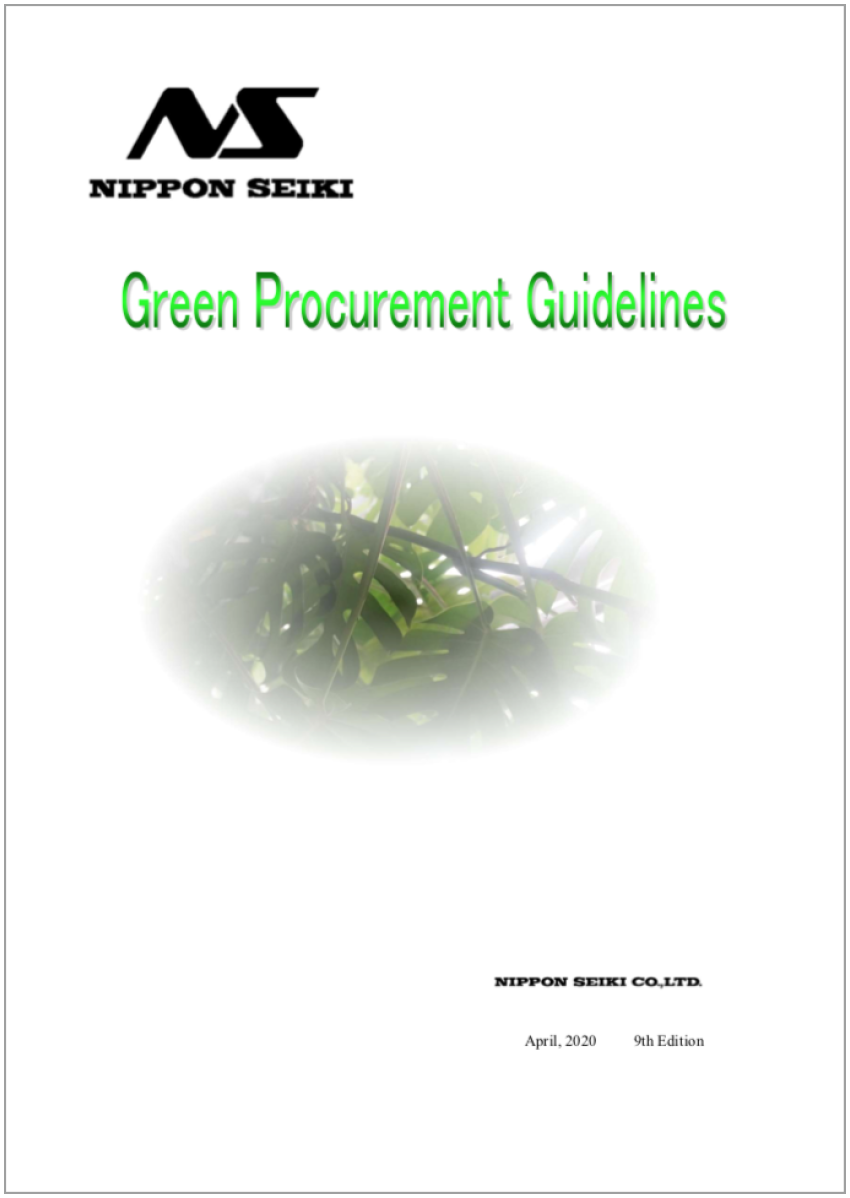 Nippon Seiki Green Procurement English version of the guidelines